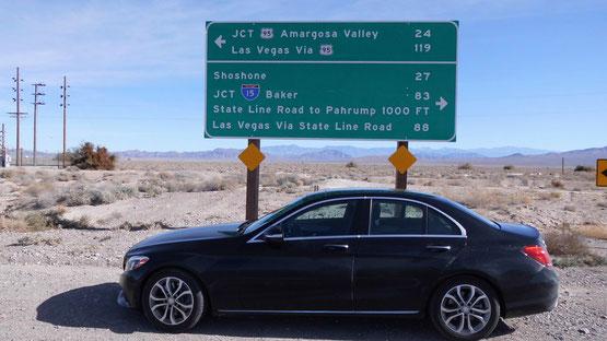 Bild: Death Valley, HDW, Hans-Dieter Wuttke, Route 66 oder nix, HDW-USA; Mercedes-Benz C-Klasse