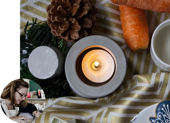 Concrete Candle Holder, Artisan Christmas Gift Guide
