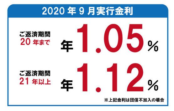 2020年9月 フラット35金利のご案内