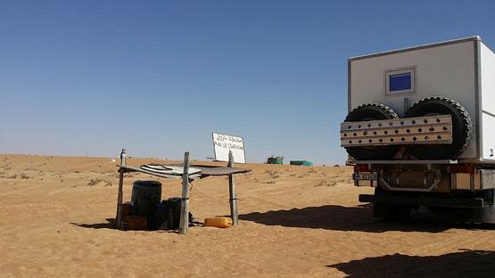 Tankstelle in der Wahiba Sands, Oman