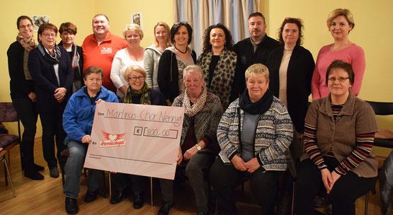 Martinuschor Nennig spendet 800 Euro