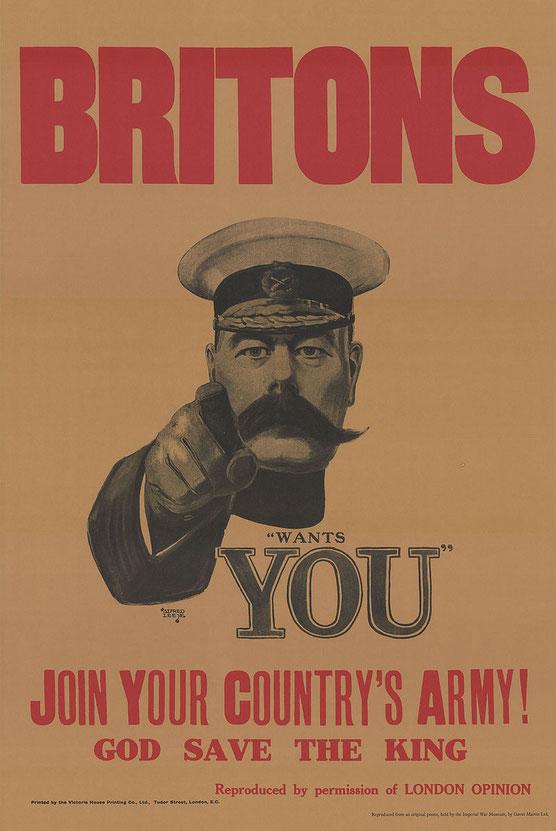 「キッチナーの募兵ポスター」(1914年)