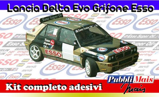 costo kit completo adesivi sticker sponsor lancia delta integrale 16v fina first oil pubblimais online shop cerrato 1991