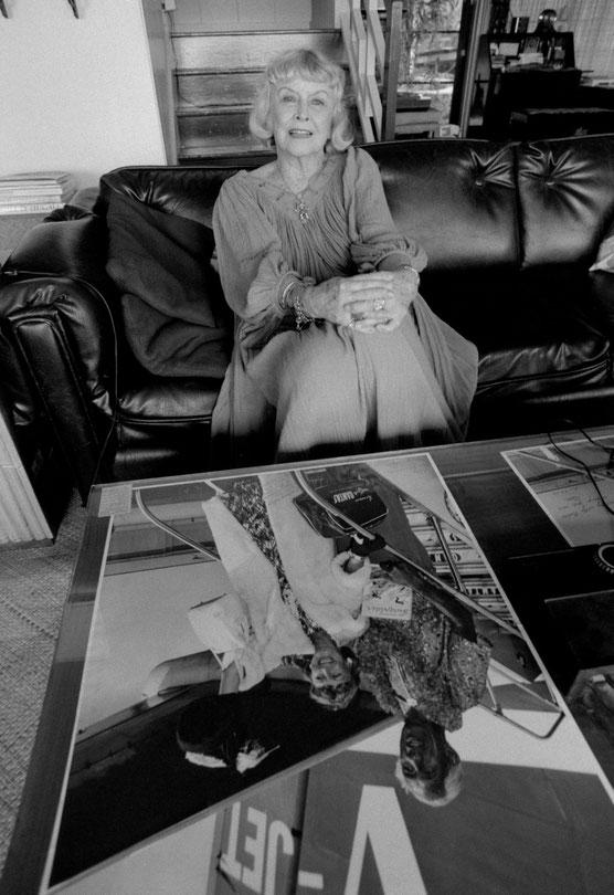 ナディーンが80歳のときにブラックポイントの自宅で撮影させてもらった。