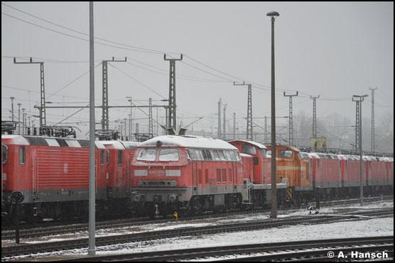 Am 05.01.2021 steht die Lok, gemeinsam mit vielen weiteren, am AW Chemnitz. Der Abtransport steht wohl bevor