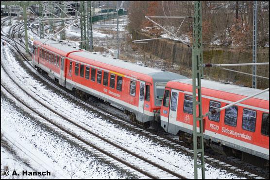 ...928/628 566 den Chemnitzer Hbf. Die Fahrt geht in die Heimat nach Mühldorf. In Chemnitz wurden im AW Modernisierungsarbeiten an den Triebwagen durchgeführt
