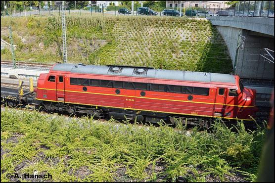 Ein kleines Highlight zum Montag: 227 008-0 (Nohab MY 1149) und Vorspannlok 227 007-2 (Nohab MY 1147) durchfahren mit leerem Langschienenwagenzug Chemnitz Hbf. in Richtung Zwickau (10. August 2015)