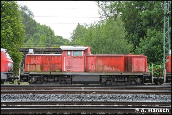 295 071-5 ist eine von 13 Loks, die am 24. Juni 2018 in einem Lokzug das Stillstandsmanagement Chemnitz erreichen. Zuvor waren sie in Hamm abgestellt