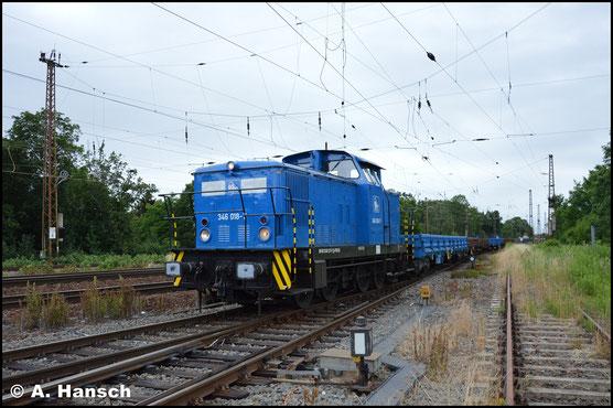 In Aktion sah ich die Lok dann am 26. Juni 2017 in Leipzig-Wiederitzsch