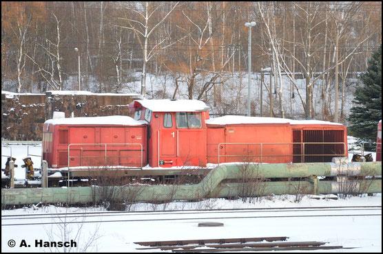 294 673-9 ist am 15. Januar 2017 gemeinsam mit sechs Schwestermaschinen am AW Chemnitz abgestellt