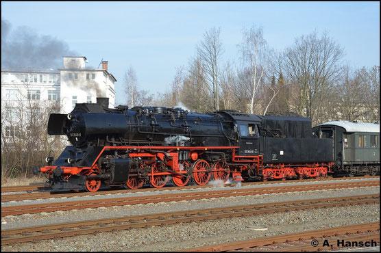 Am 27. Februar 2016 übernimmt 50 3648-8 den Sonderzug DPE 24052 aus Berlin-Schöneweide in Chemnitz-Süd. Von hier aus geht die Fahrt weiter über Aue und Annaberg-Buchholz nach Cranzahl