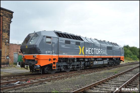 """Die erste Gelegenheit eine Lok der BR 251 zu fotografieren, war das 27. Heizhausfest des SEM Chemnitz. Am 18. August 2018 ist 251 011-3 (HectorRail 861.001 """"Thor"""") hier zu Gast"""