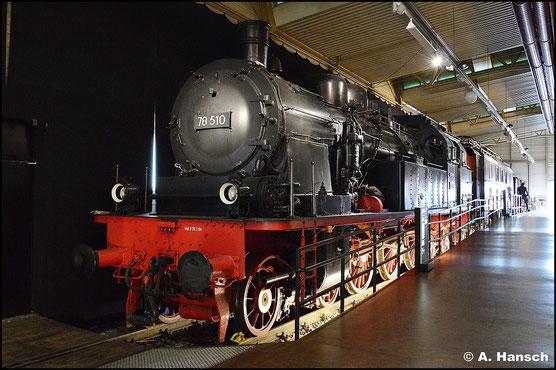 Am 15. Juli 2015 besuchte ich das DB Museum Nürnberg. 78 510 ist eins der dort ausgestellten Exponate