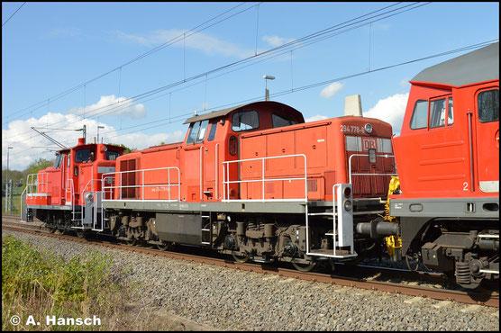 In einem Lokzug von Cottbus nach Nürnberg, konnte ich am 5. Mai 2020 in Chemnitz-Furth auch 294 778-6 fotografieren