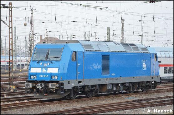 076 001-1 (PRESS 285 101-5) konnte am 3. Januar 2016 in Leipzig Hbf. festgehalten werden