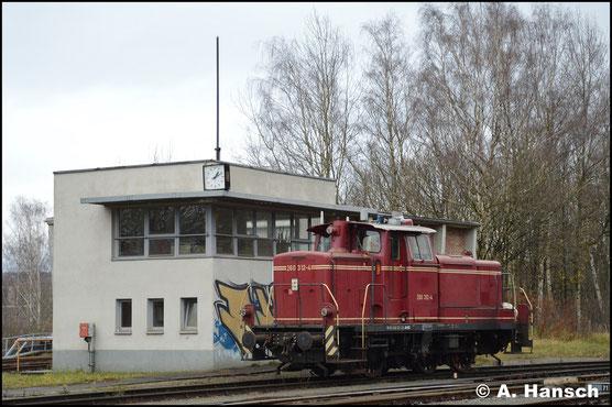 Ein weiteres Bild der Maschine entstand am 28. November 2017 im Rbf. Chemnitz-Küchwald