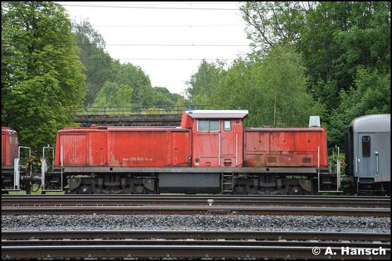 295 056-6 ist eine von 13 Loks, die am 24. Juni 2018 in einem Lokzug das Stillstandsmanagement Chemnitz erreichen. Zuvor waren sie in Hamm abgestellt