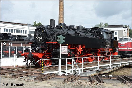 Eine Sensation unter Eisenbahnfreunden war und ist der Kauf von 86 1333-3 durch die PRESS. Am 20. September 2015 wird die Maschine auf der Drehscheibe ihrer neuen Heimat Glauchau präsentiert