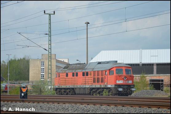 Am 23. April 2018 steht 232 055-4 vorm AW. Sie soll nach Ungarn verkauft worden sein und bald abtransportiert werden