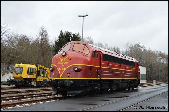Am 1. März 2019 ist 227 008-0 (AltmarkRail MY 1149) bei DB Energie in Chemnitz abgestellt