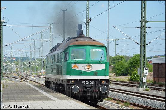 232 404-4 (SBW V300 001) rangiert am 23. Mai 2015 in Chemnitz Hbf.