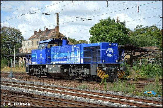 Auch 275 014-9 (IL 211) gehört zum Bestand von InfraLeuna. Am 2. September 2020 rollt die Lok Lz durch Leipzig-Wiederitzsch