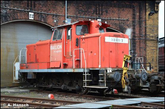 363 650-3 steht seit einiger Zeit im SEM Chemnitz, wo ich die Lok am 13. Juni 2021 fotografieren konnte