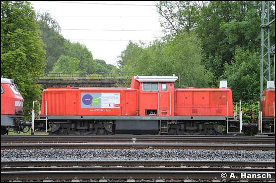 295 041-8 ist eine von 13 Loks, die am 24. Juni 2018 in einem Lokzug das Stillstandsmanagement Chemnitz erreichen. Zuvor waren sie in Hamm abgestellt