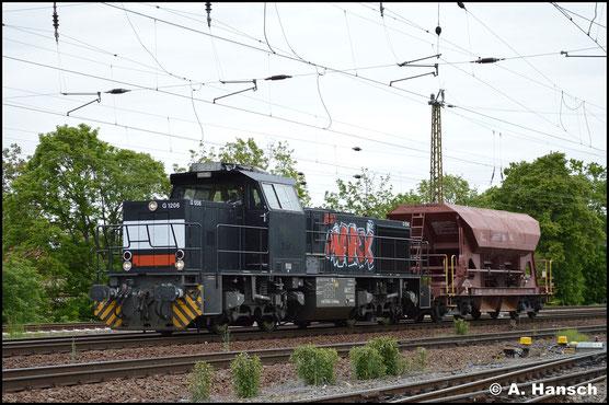Sonderlich mühen musste sich 276 034-6 am 15. Mai 2019 nicht, als sie mit einem Wagen durch Leipzig-Wiederitzsch rollt