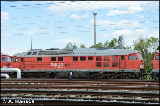 """232 568-6 ist eine von 9 """"Ludmillas"""", die am 29. April 2018 aus Mukran ins DB Stillstandsmanagement überführt wurden. Am 1. Mai 2018 konnte ich sie vorm AW Chemnitz fotografieren"""
