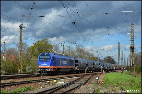 In Diensten der Raildox GmbH und deren markantem Farbkleid begegnet mir 264 002-7 am 05. Mai 2021 in Leipzig-Wiederitzsch