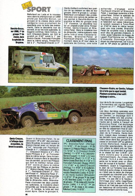 1989 - Rallye Jean de la Fontaine