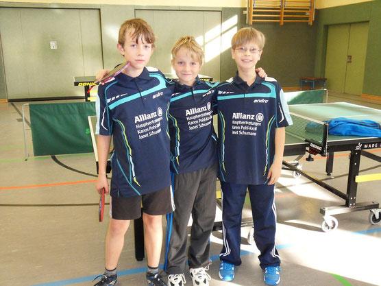 v.l.: Yannick Kieswald, Dominik Rehn, Laurin Barabas
