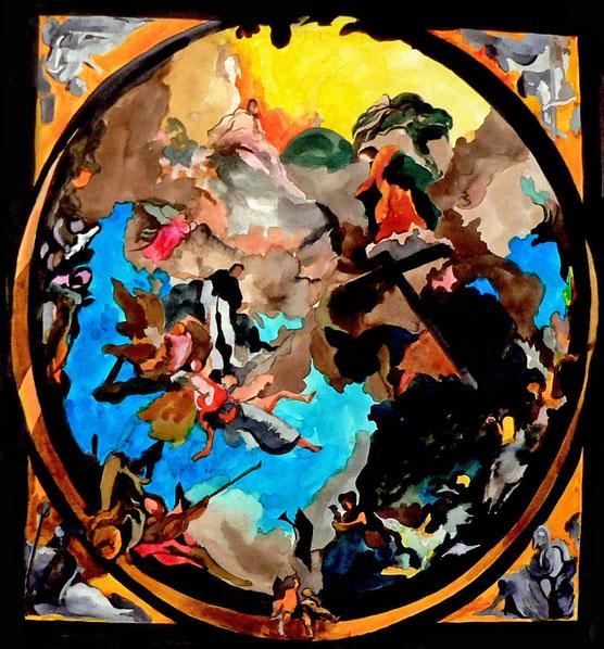 Gloire de Dominique 2 - Encre/papier - 70 x 70