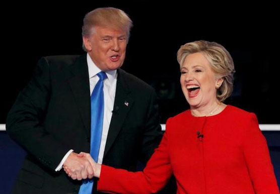 米大統領選 クリントン トランプ