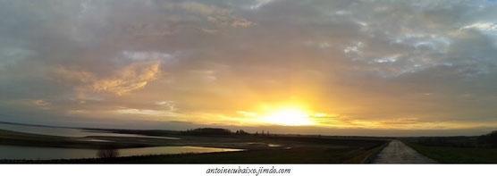 Lac du Der le 17 décembre 2015 sous le soleil par 17°