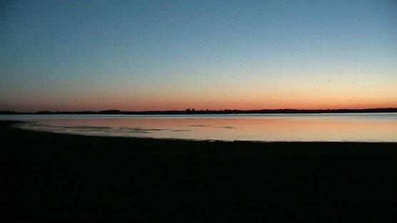 Lever du jour sur le Lac du Der (Septembre 2013)