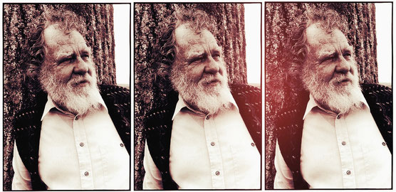 Charles Plymell Trip-tych - original picture by © Gerard Malanga