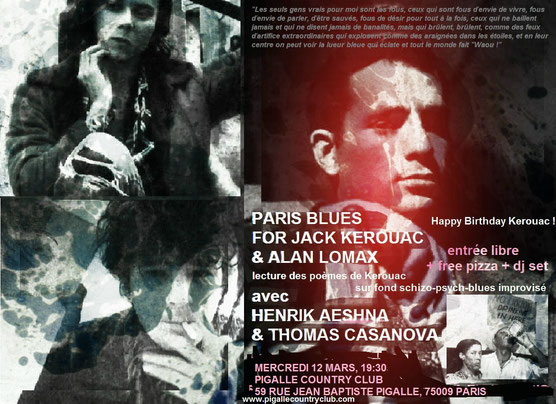 PARIS BLUES FOR JACK KEROUAC & ALAN LOMAX, feat. HENRIK AESHNA & THOMAS CASANOVA