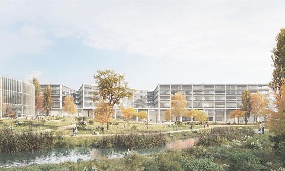 Visualisierung Siegerprojekt (Wulf Architekten GmbH)