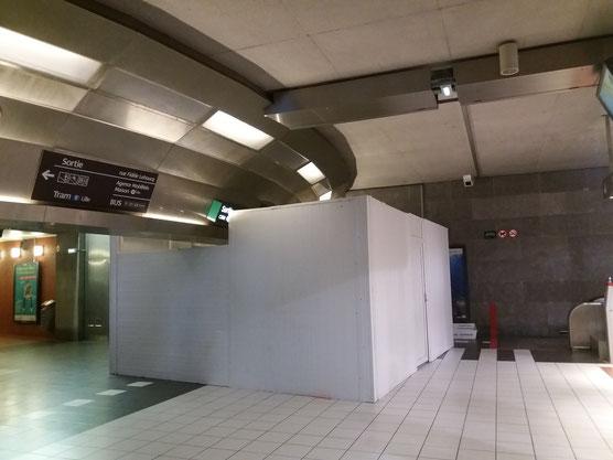 L'installation des portiques à Tourcoing Centre.