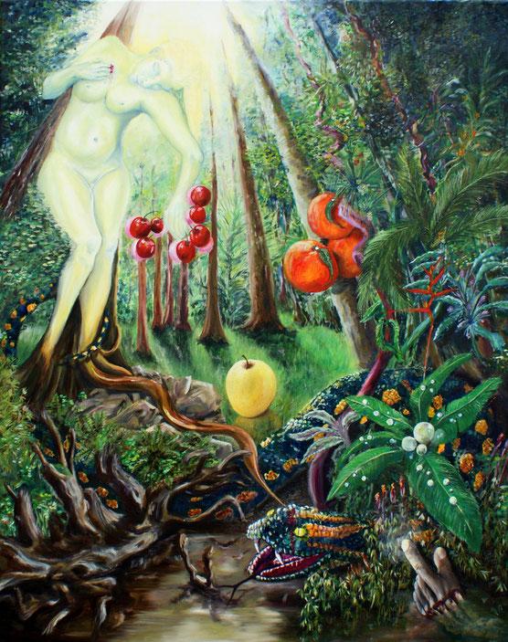 """Vénus Bashung - Acrylique sur toile 80x60 - Selon la chanson d'Alain Bashung """"Vénus"""""""