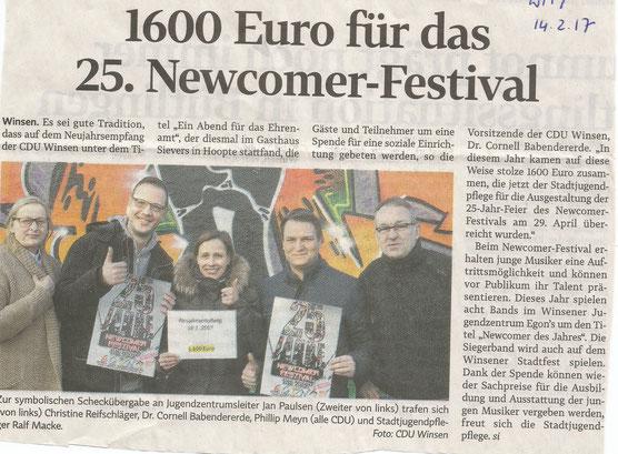 Winsener Anzeiger, 15.02.2017