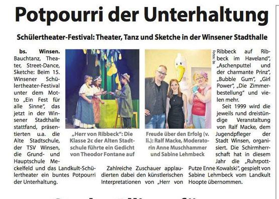 Wochenblatt Elbe und Geest, 18.06.2016