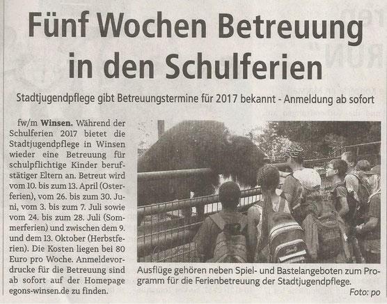 Winsener Anzeiger, 20.10.2016