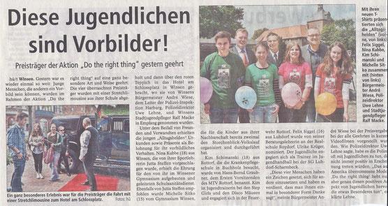Winsener Anzeiger, 21.06.2014