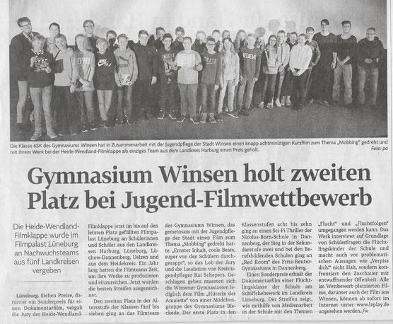 Winsener Anzeiger, 21.11.2017