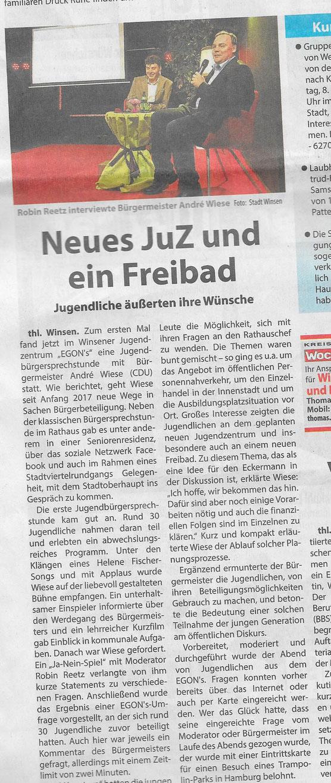 Wochenblatt Elbe & Geest, 7.11.2018