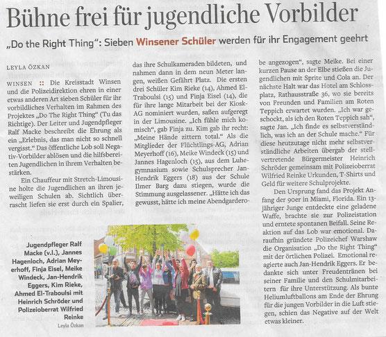 Hamburger Abendblatt, 13.Mai 2017