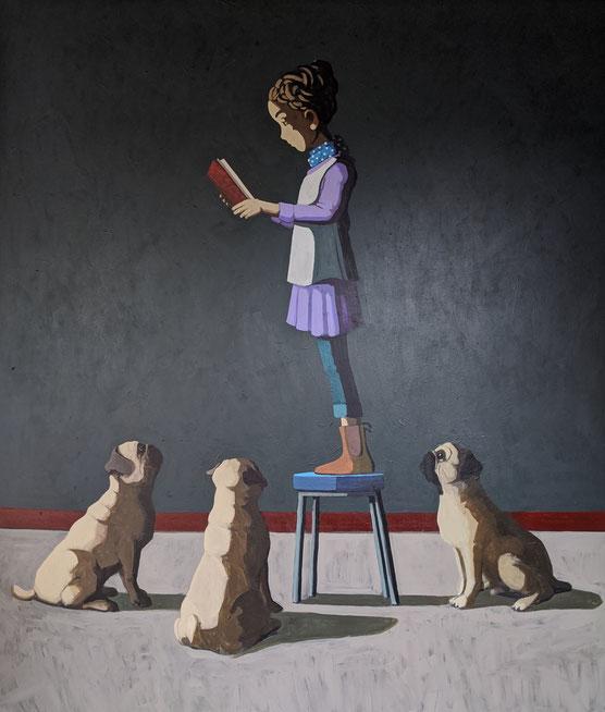 bedtime story - Acryl auf Leinwand, 190x160cm, 2020